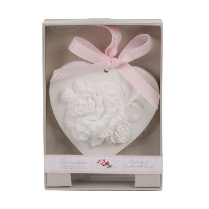 carnation heartshape scented ornament wfragance