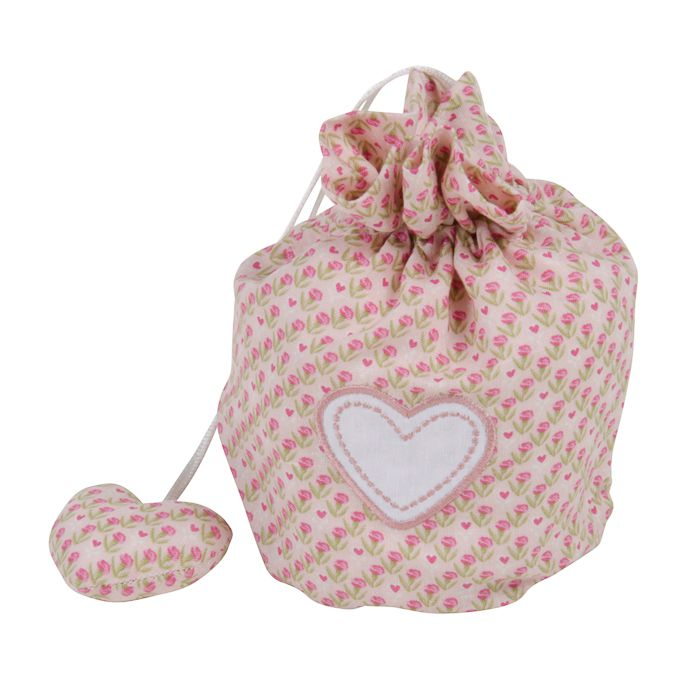 carnation linen bag wembroidery small