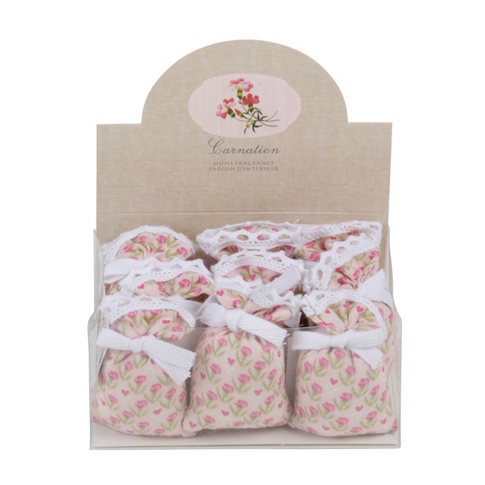 carnation linen sachet 9in giftbox