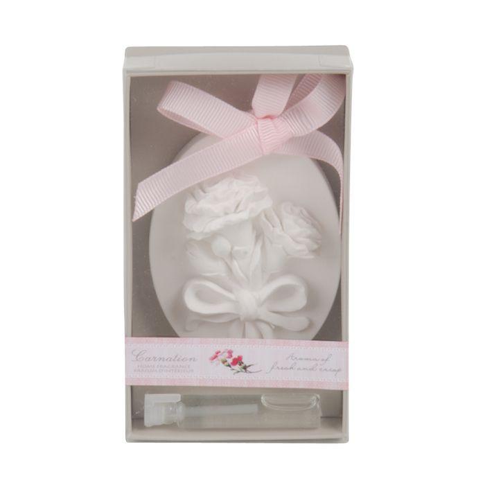 carnation ovalshape scented ornament wfragance