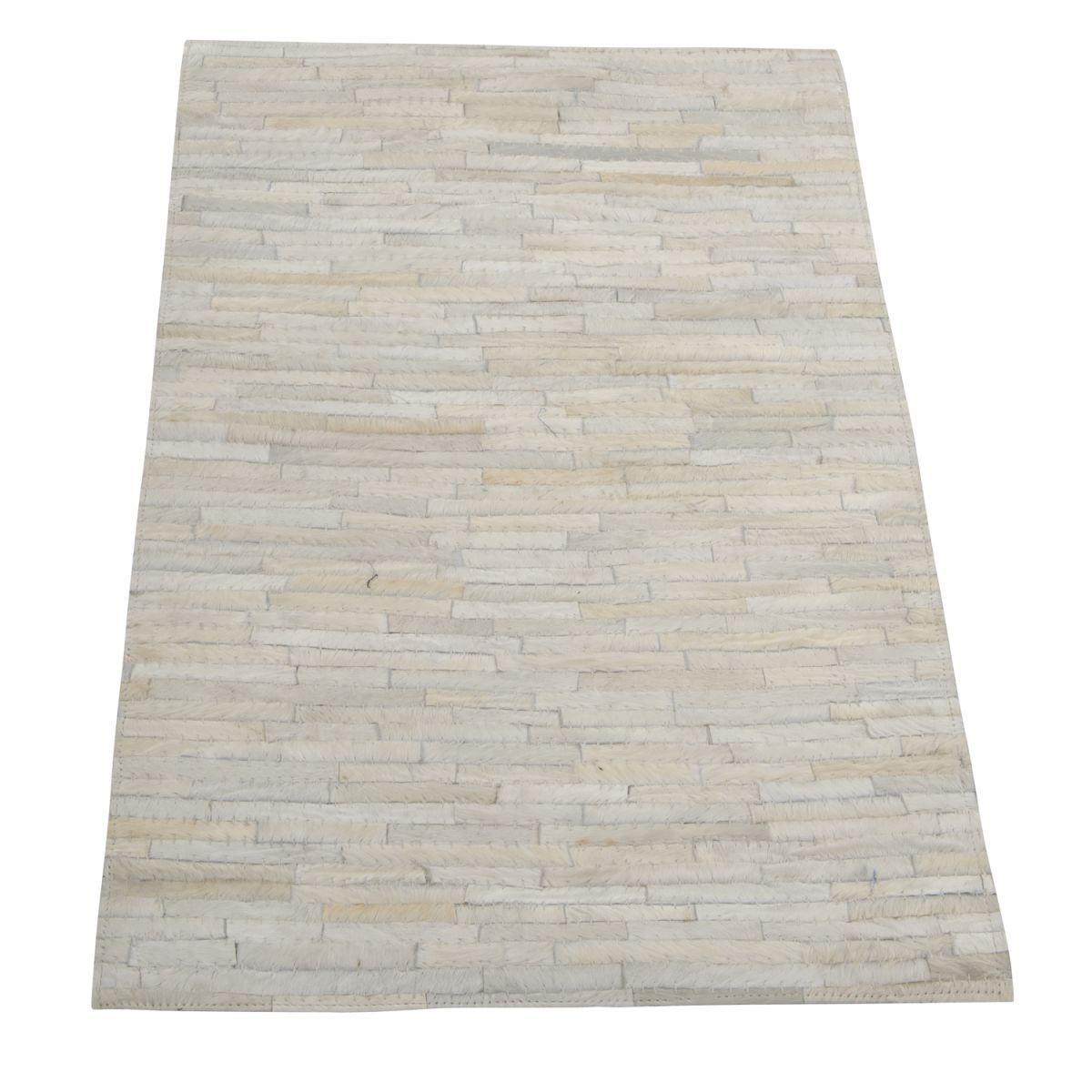 carpet leather 160x230cm white