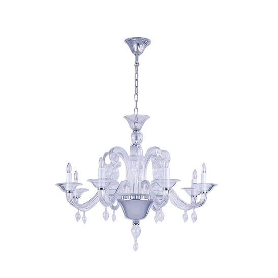 chandelier roma 8arm clear hg 62 88 cm