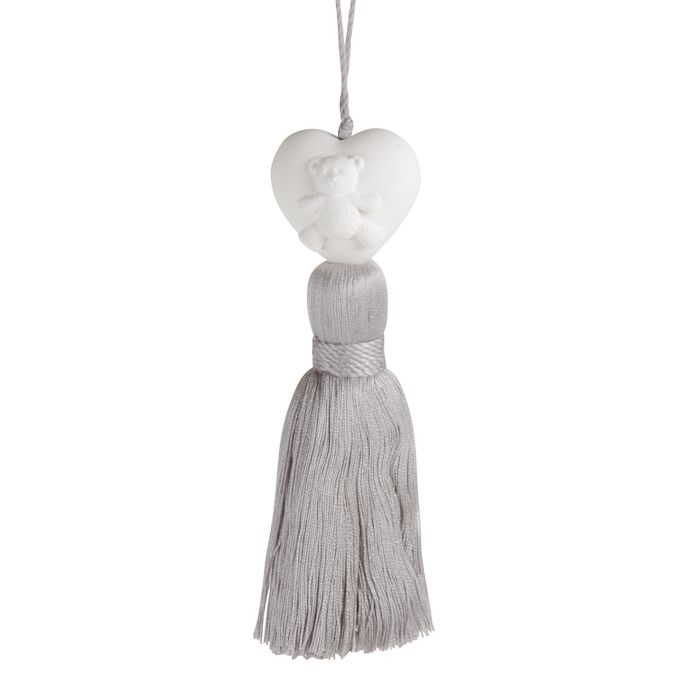 cotton candy ornament wgrey tassel