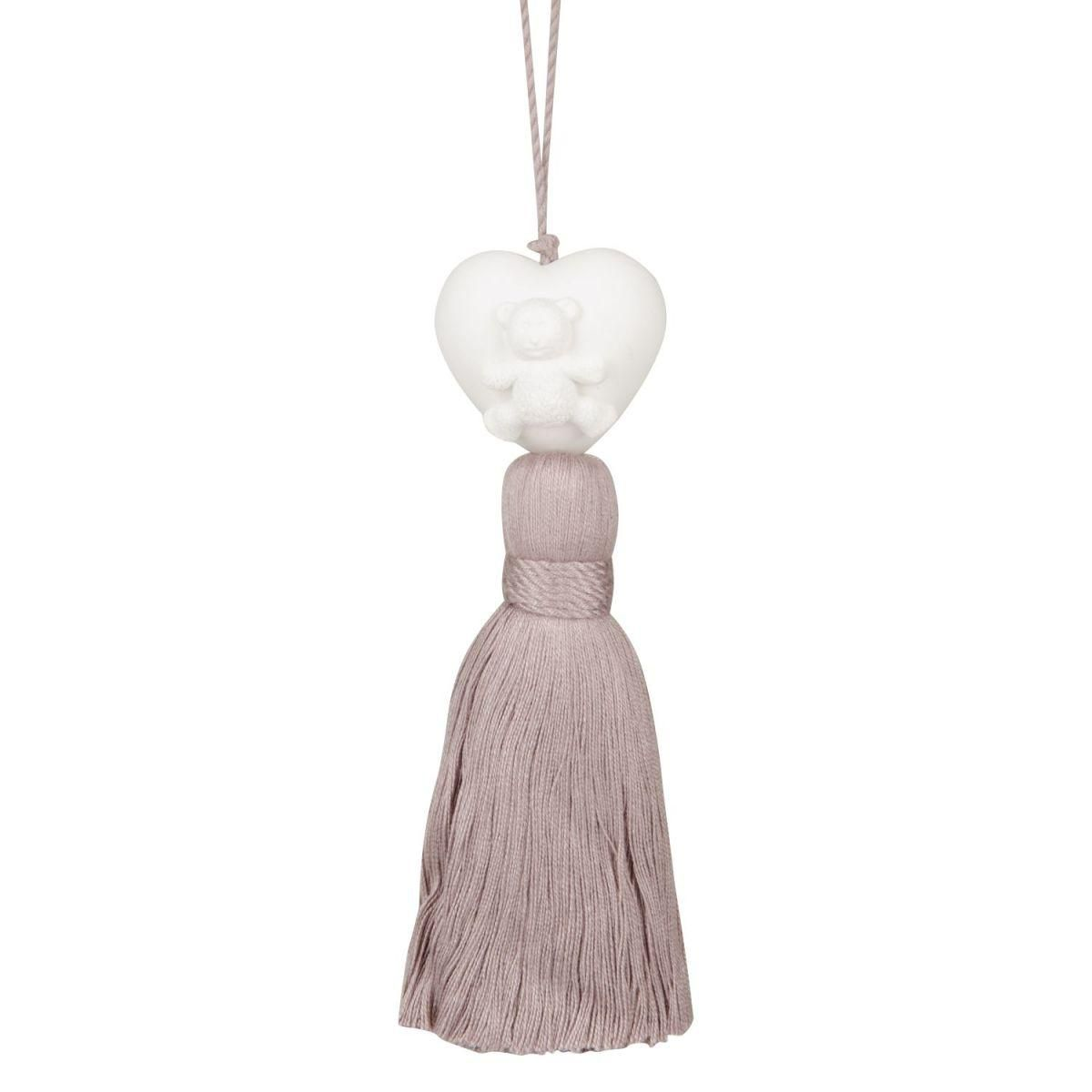 cotton candy ornament w pink tassel