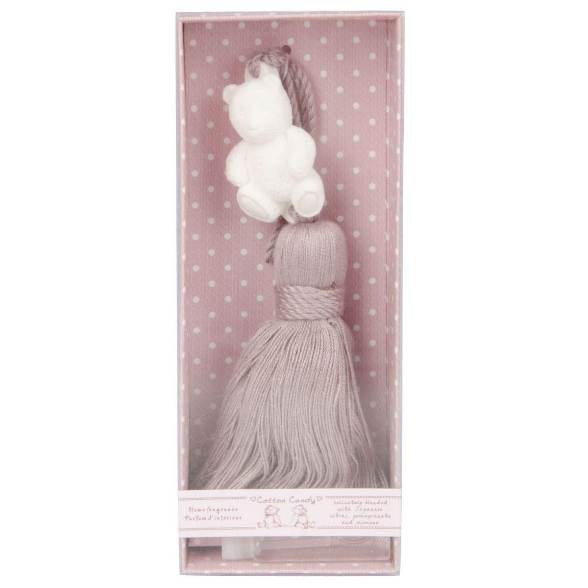 cotton candy ornament w pink tassel in giftbox