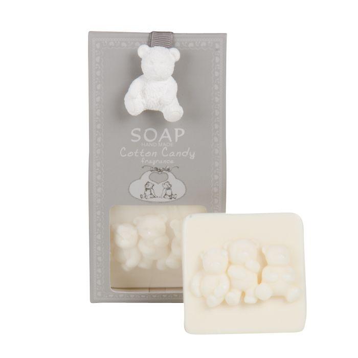 cotton candy zeep beertje 80 gr in geschenkverpakking grijs wit