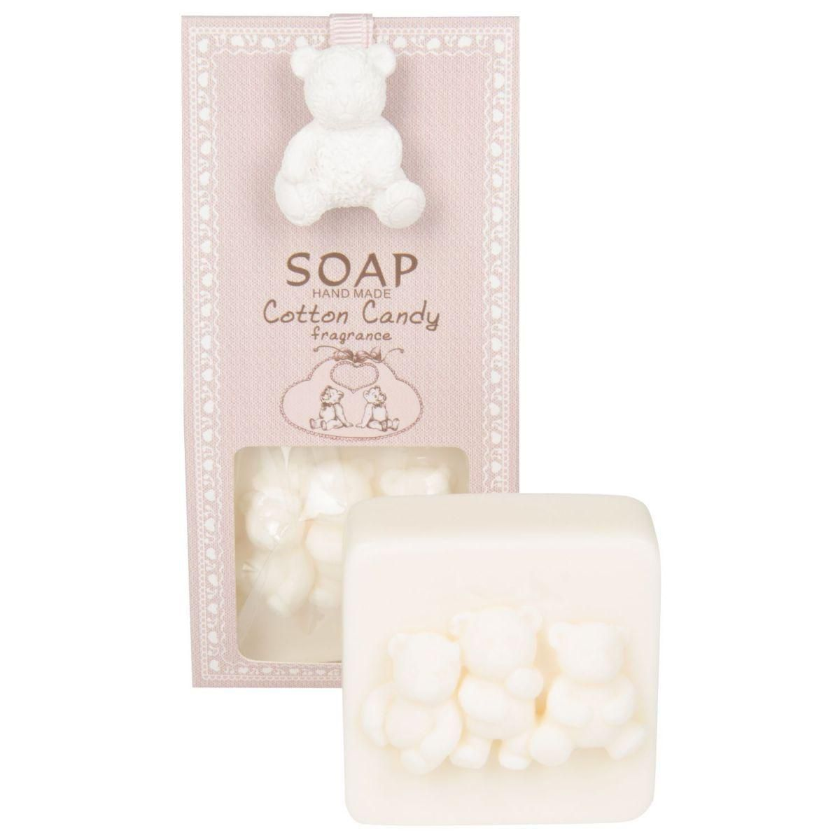 cotton candy soap bear 80 gr in pink giftbox