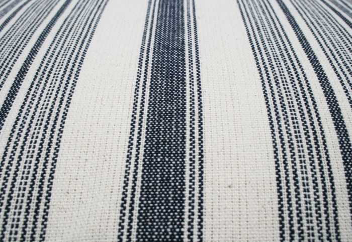 cushion cotton indigo blue lines ivory 60x60cm