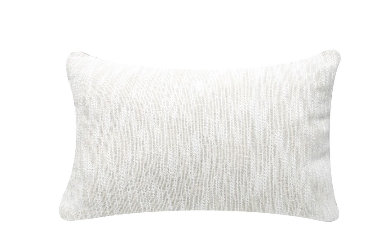 cushion pure cotton linen white 50x30cm