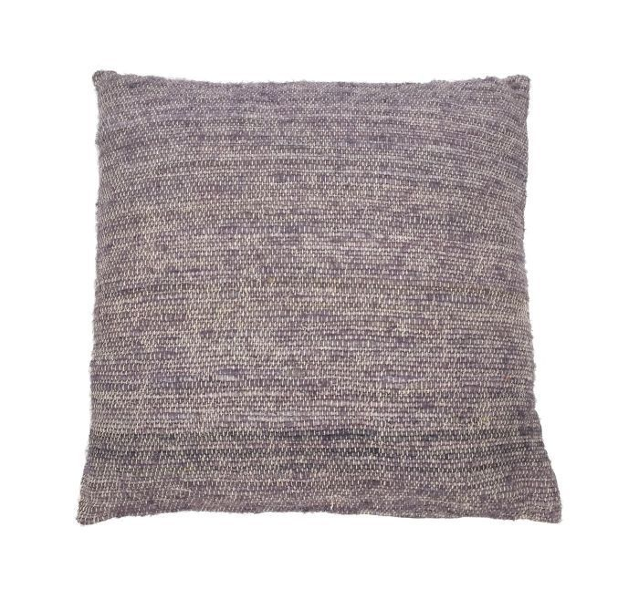 cushion silk cotton stonegreylavender 50x50cm with filler