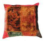 Cushion velvet print Kelim patchwork 50x50cm