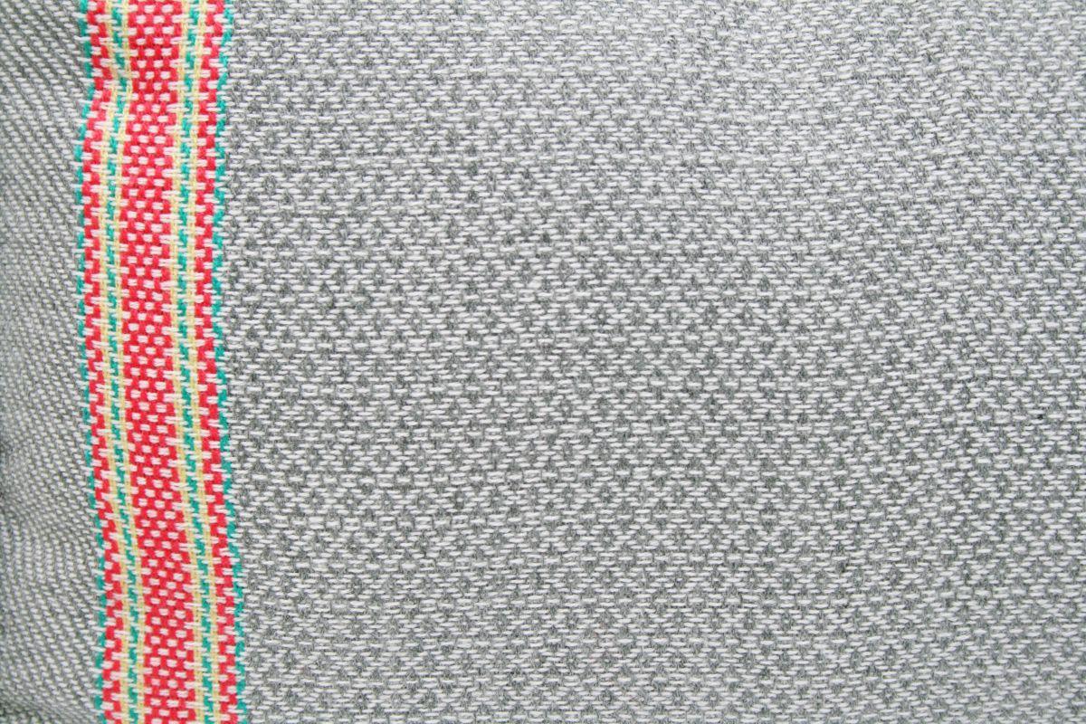 deken acryl grijs met neon roze 130x170cm