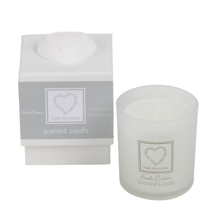 fresh cotton single candle in gift box