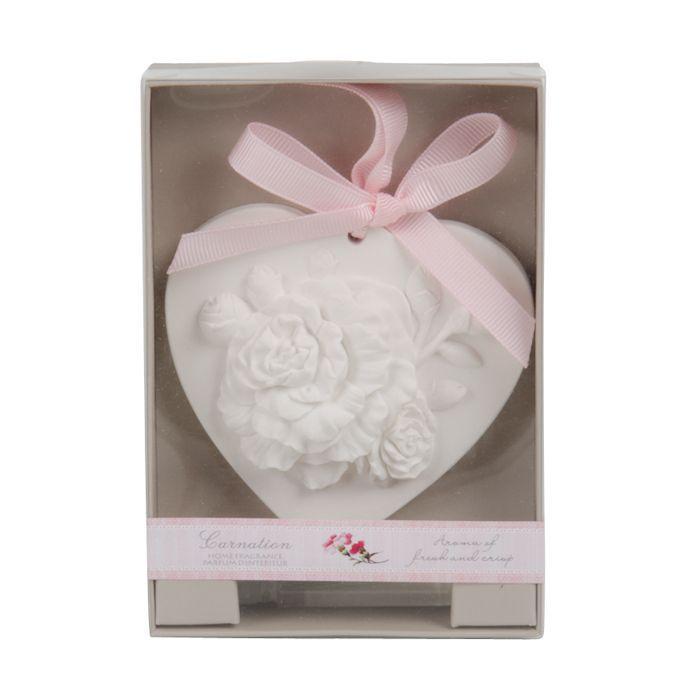 geursteen hartvorm anjer en parfumstaafje in geschenkverpakking