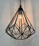 Hanglamp Grafisch Design Zwart hg 25 ø26cm