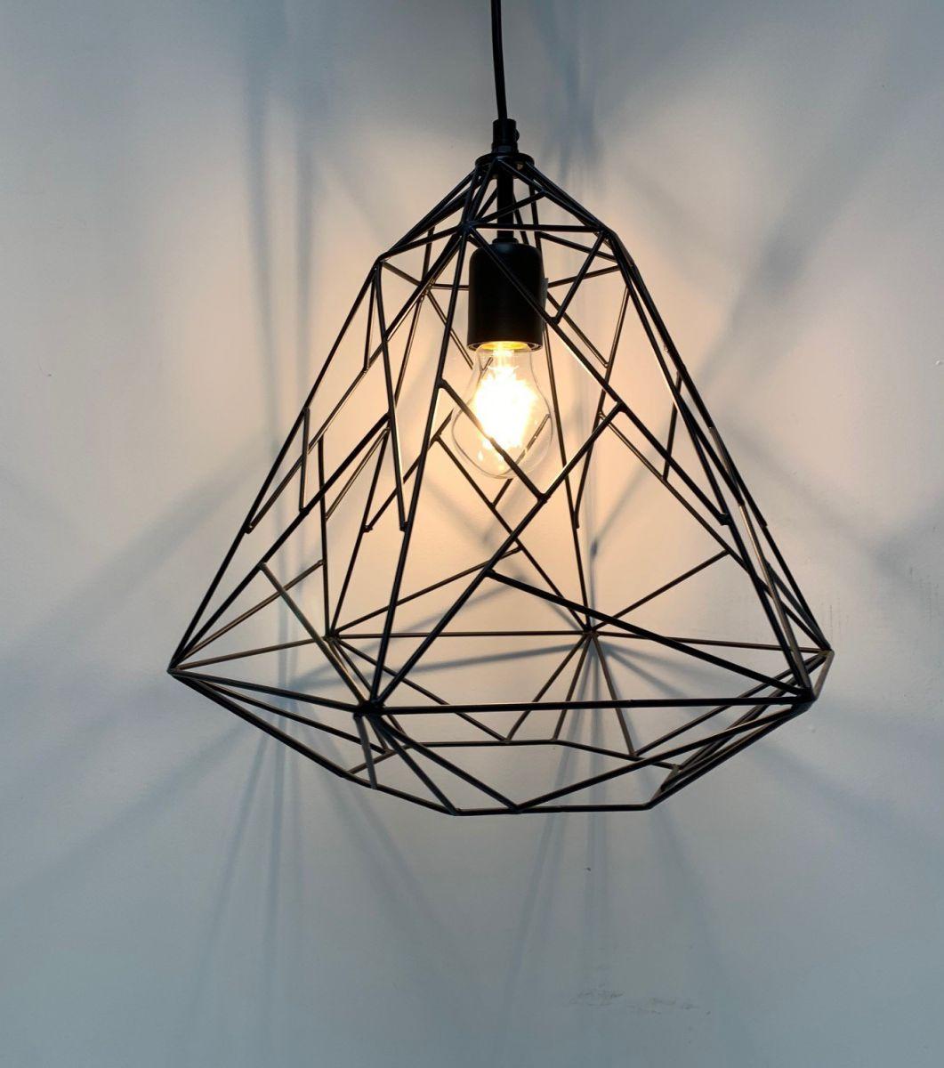 hanglamp grafisch design zwart hg 35 38cm