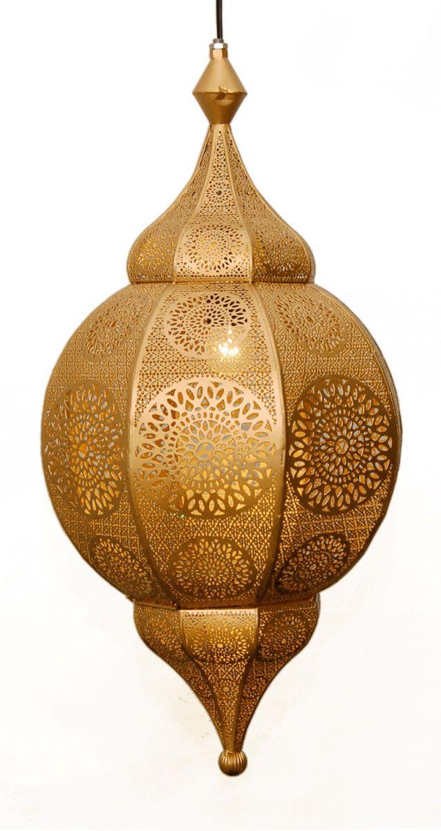 hanglamp oosters filigrain goud goud hg 66 32 cm