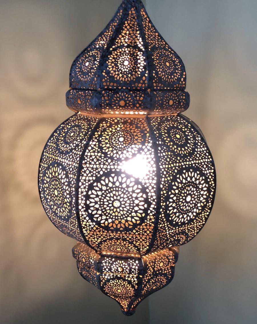 hanglamp oosters filigrain metaal whitewashgoud hg 33 19 cm