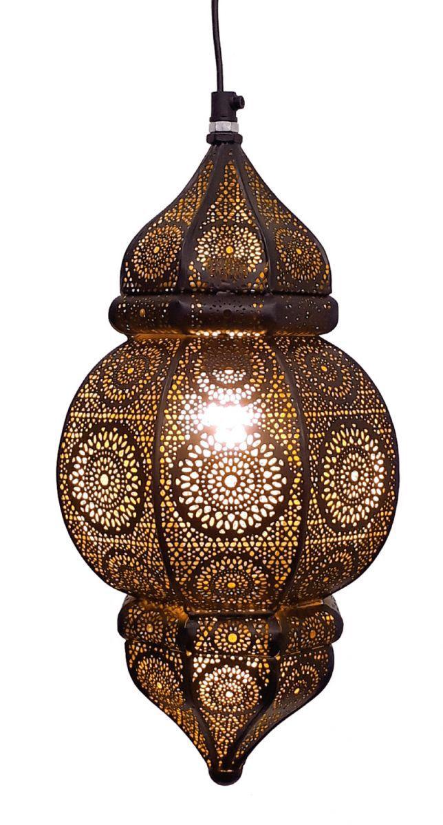 hanglamp oosters filigrain zwart goud hg 33 19 cm
