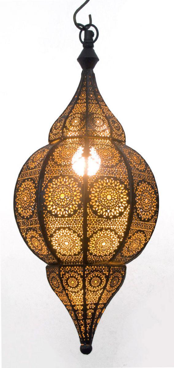 hanglamp oosters filigrain zwart goud hg 48 22 cm