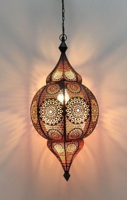 hanglamp oosters zwart koper hg 48 22 cm