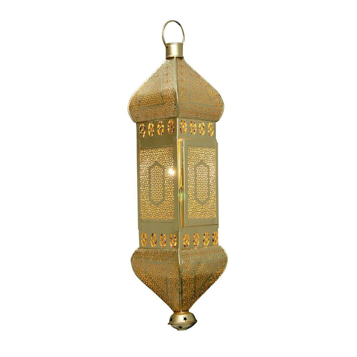 hanglamp oosters filigrain goud hg 48 cm br 12x12 cm