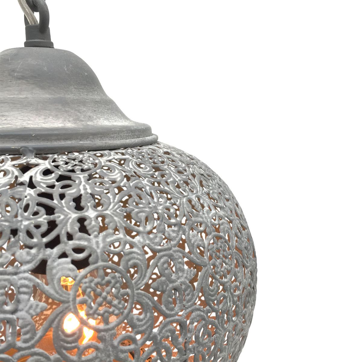hanglamp orientaals mistiek grijs 25 hg 25 cm