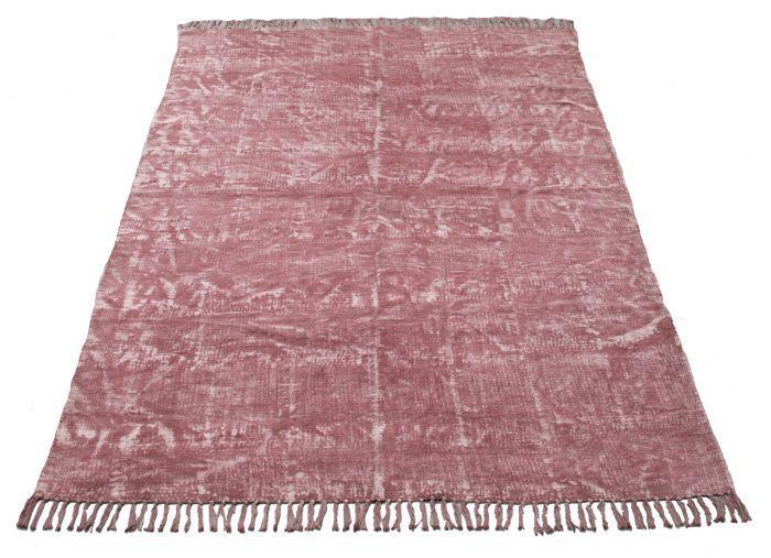 kleed blokprint oud roze 120x180cm