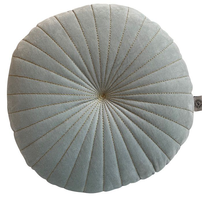 kussen fluweel pale aqua 60cm
