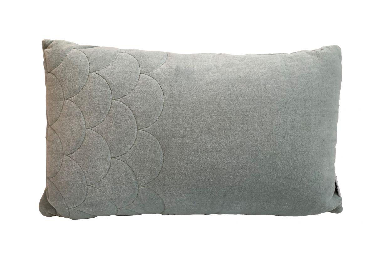 kussen fluweel pale aqua boogpatroon 50x30cm