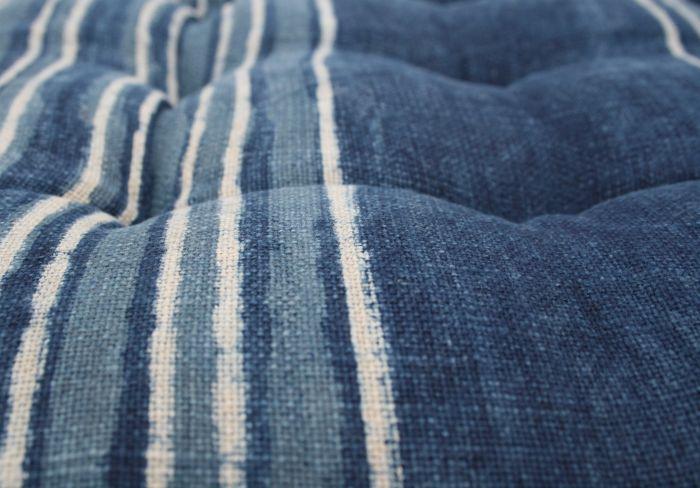 kussen indigo katoen idigo blauw streep wit 40x40cm