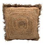 Kussen jute naturel geweven franje Shaggy Bohemain 45x45cm