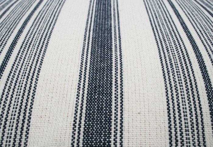 kussen katoen indigo blauw streep wit 50x30cm