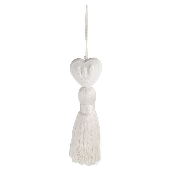 lavender ornament white tassel