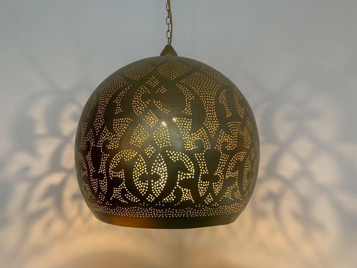oosterse hanglamp filigrain goud 50 hg 48 cm