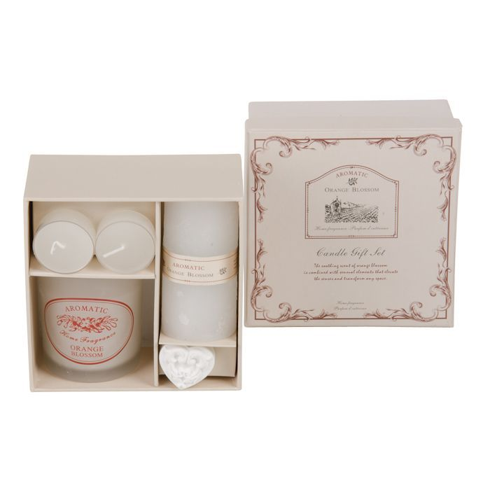 orange blossom gift set deluxe wcandles