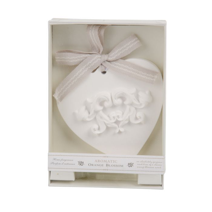 orange blossom scented heart in giftbox