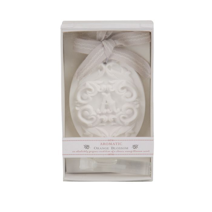 orange blossom scented ornament in giftbox