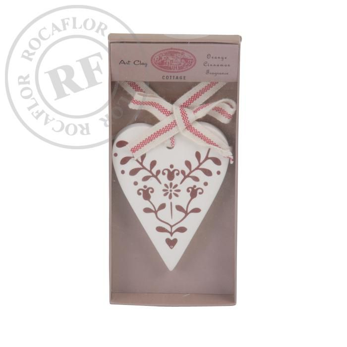 orange cinnamon heart ornament in giftbox