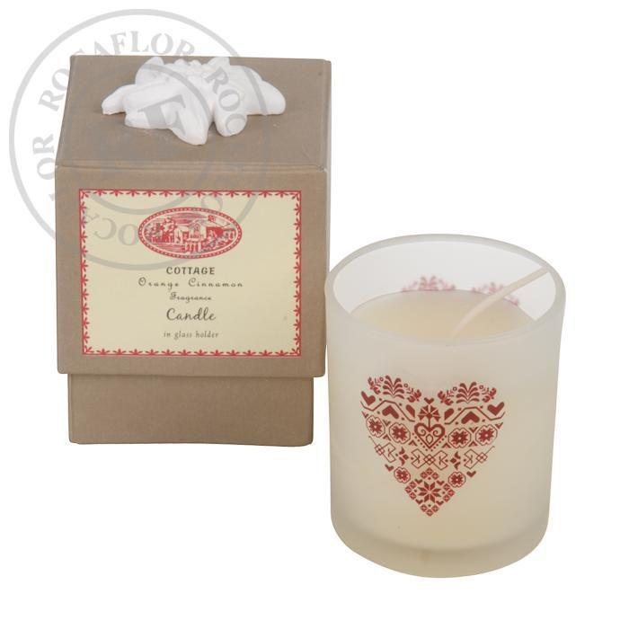orange cinnamon single candle in gift box