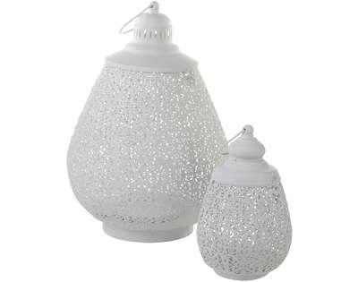oriental moska lantern white s hg 24 16 cm
