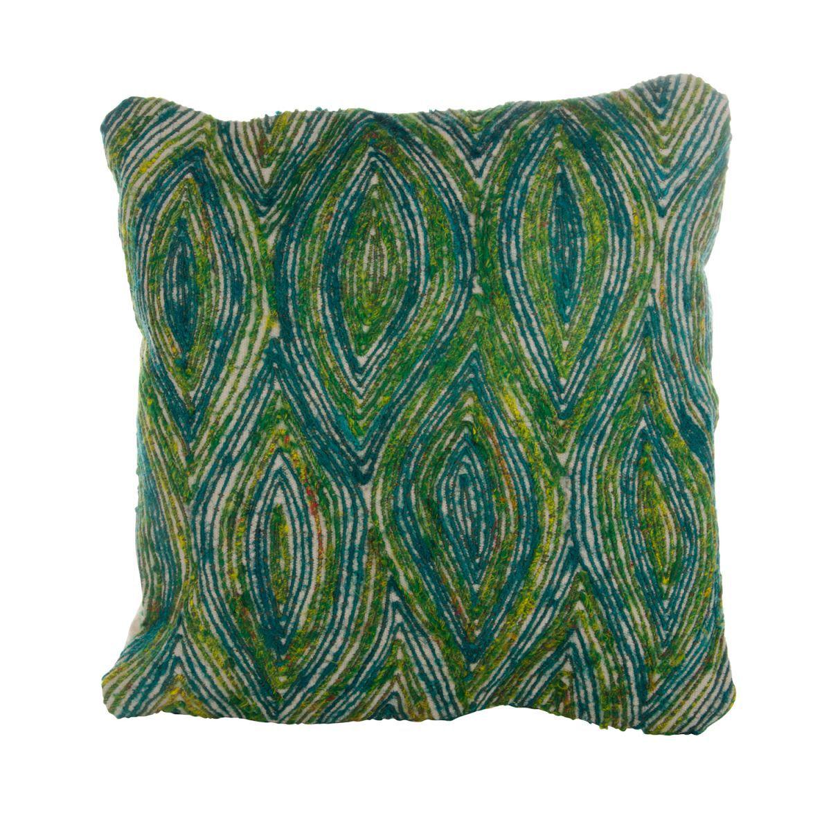 pillow peacock wh 50x50cm incl vulling