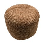 Pouf braided jute natural round 50 cm hg 30 cm