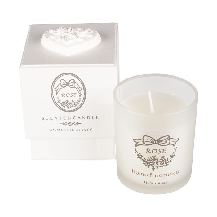 rose single candle in gift box