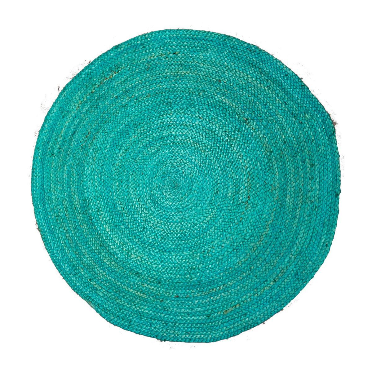 rug braided hemp seablue 120cm
