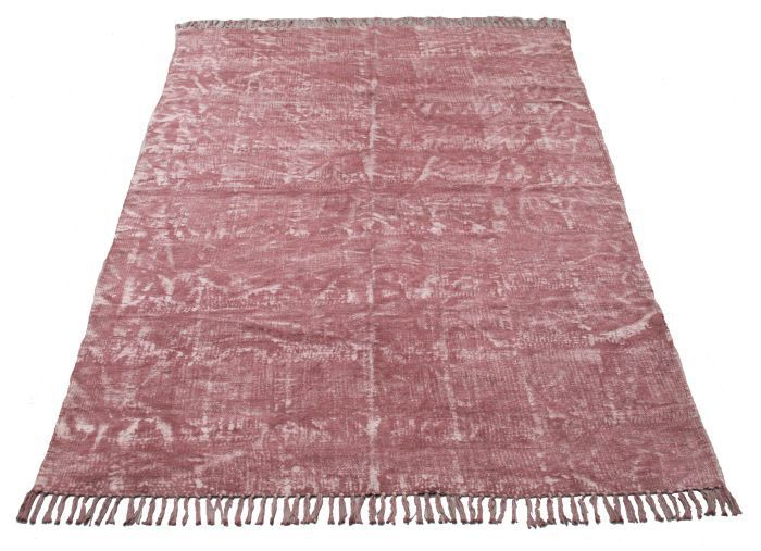 rug cotton blockprint old pink 120x180cm