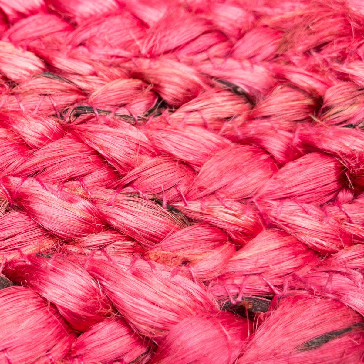 rug hemp woven coral blush 120cm