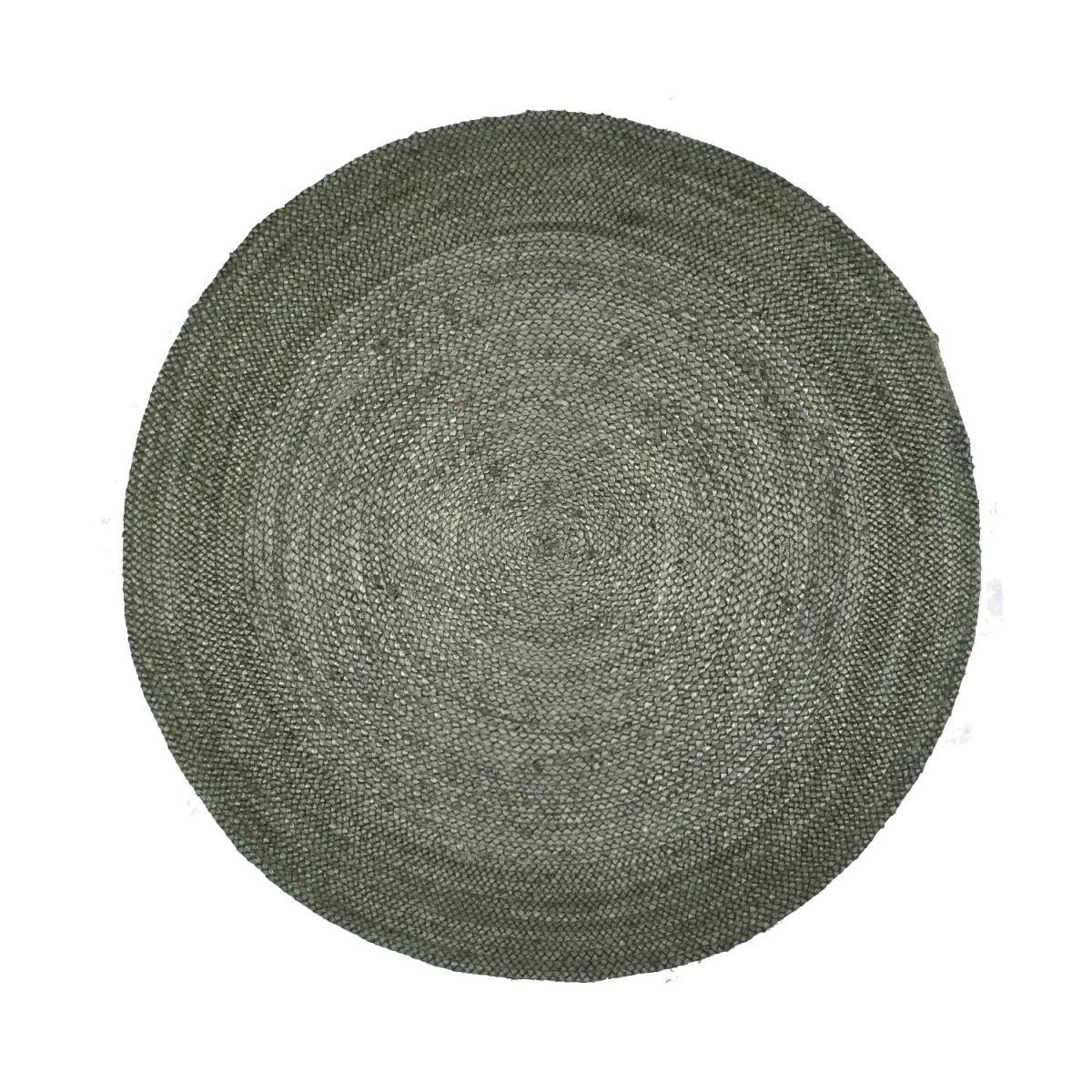 rug jute forest green 120cm