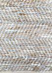 Rug leather white/grey & hemp 80x140cm