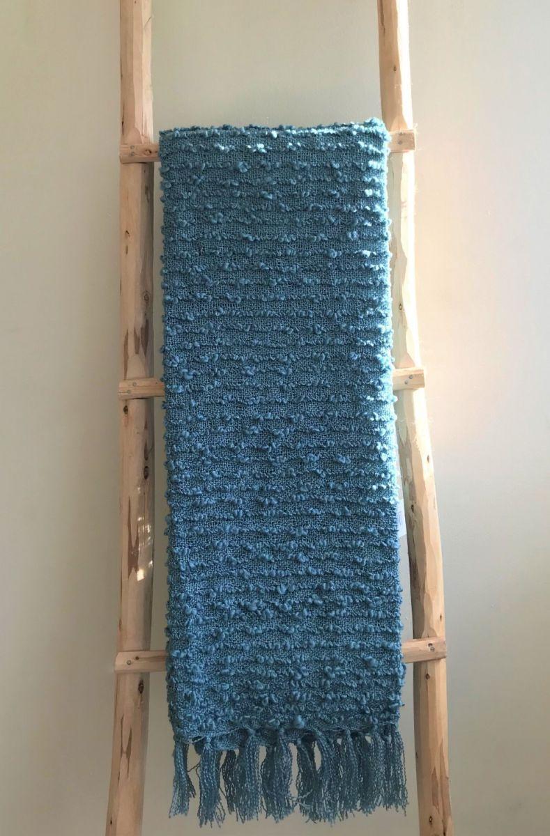 throw acrylic teal petrol blue 125x150cm